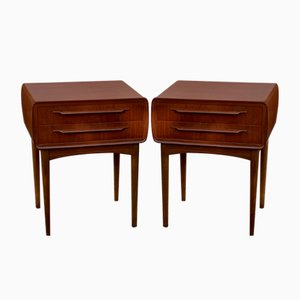 Teak Night Stands by Johannes Andersen for CFC Silkeborg, 1960s, Set of 2