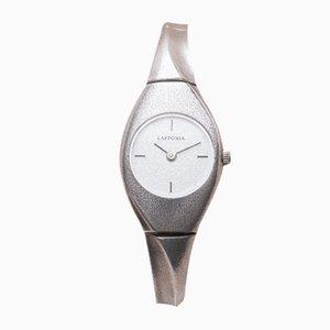 Silberne Uhr von Bjorn Weckstrom für Lapponia, 2000er