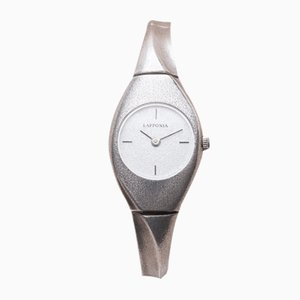 Single Silver Watch by Bjorn Weckstrom for Lapponia, 2000s