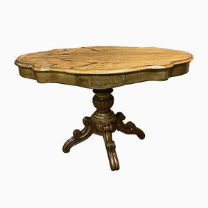Louis Philippe Walnut Piano Side Table