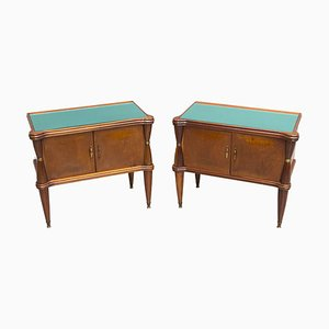 Vintage Wooden Nightstands, 1950s, Set of 2