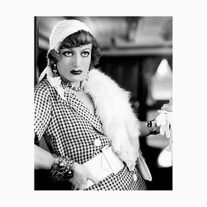 Joan Crawford Fashion Archival Pigment Print Framed in White by Everett Collection