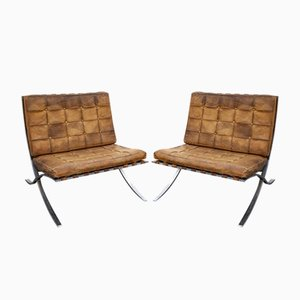 Barcelona Lounge Chairs by Ludwig Mies van der Rohe, 1950s, Set of 2