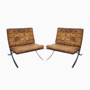 Poltrone Barcelona di Ludwig Mies van der Rohe, anni '50, set di 2