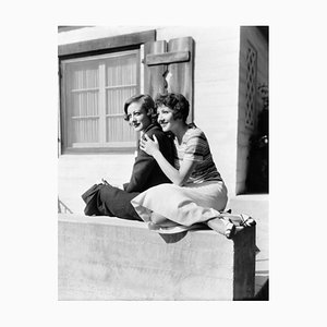 Joan Crawford & Claudette Colbert Archival Pigment Print Framed in White by Everett Collection