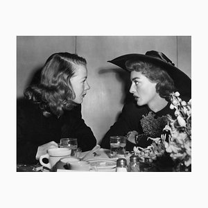 Betty Hutton & Joan Crawford Archival Pigment Print Framed in White by Everett Collection