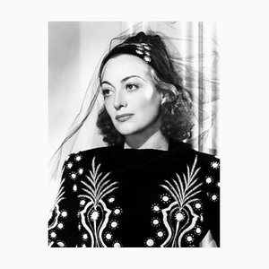 Joan Crawford in Costume Archival Pigment Print Framed in White by Everett Collection