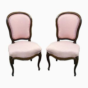 Napoleon III Mahogany Dining Chairs, Set of 2