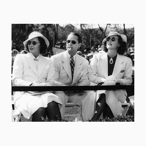 Crawford & Friends at Rogers Polo Field Archival Pigment Print Framed in White by Everett Collection