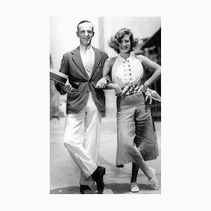 Arm in Arm, Astair & Joan Crawford Archival Pigment Print Framed in White by Everett Collection