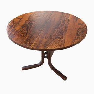 Scandinavian Rosewood Round Side Table from Ganddal Møbelfabrikk, 1970s