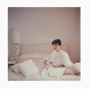 Pink Accessory Archival Pigment Print Framed in Black by Slim Aarons
