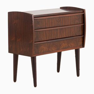 Danish Rosewood Entry Chest of Drawers or Nightstand, 1960s