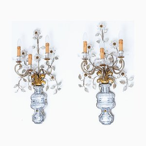 Vintage French Wall Lights from Maison Baguès, 1970s, Set of 2
