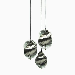 Three-Pendant Lamp by Henri Mathieu for Lyfa