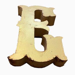 Vintage Metal Letter E Sign