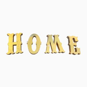 Metal Home Sign, 1960s