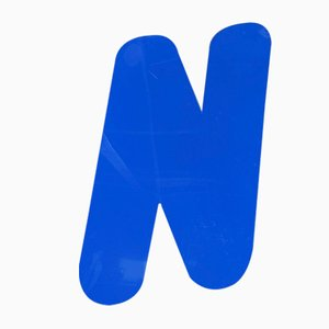 Panneau Lettre N Vintage en Plexiglas