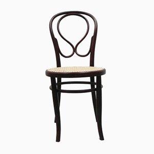 Chaise de Bureau Antique en Bois de Hêtre Courbé de Fischel
