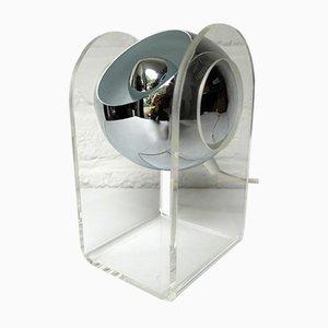 Space Age Plexiglas Kugel Tischlampe von Gino Sarfatti für Arteluce, 1970er