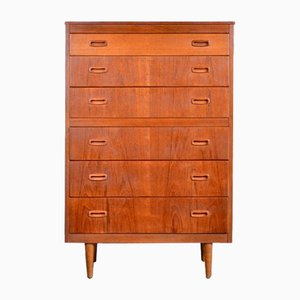 Mid-Century Teak Tallboy or Chest of Drawers, 1960s