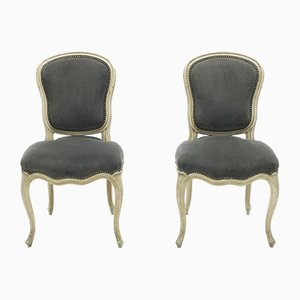 Neoclassical Louis XV Style Side Chairs from Maison Jansen, 1940s, Set of 2