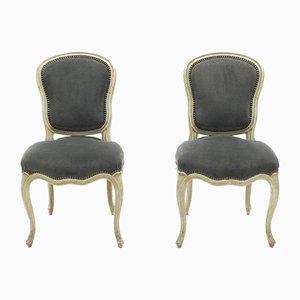Neoklassizistische Louis XV Beistellstühle von Maison Jansen, 1940er, 2er Set