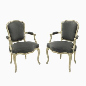 Neoclassical Louis XV Style Lounge Chairs from Maison Jansen, 1940s, Set of 2