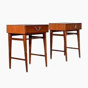MId-Century Bedside Cabinets in Walnut from Meredew, 1960s, Set of 2