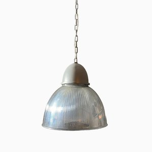 Vintage Industrial Aluminium and Methacrylate Suspension Lamp, 1970s