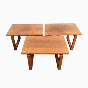 Mid-Century Danish Teak Side Nesting Tables, 1960s