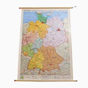 Mapa de escuela educativo alemán vintage