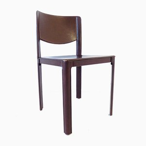 Saddle Leather Dining Chair by Tito Agnoli for Matteo Grassi, 1970s