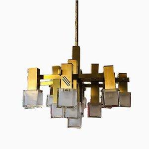 Deckenlampe von Gaetano Sciolari für Sciolari, 1970er