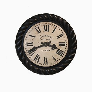 Large Antique Electric Dial Wall Clock