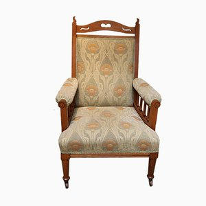 Antique Arts and Crafts Oak Armchair