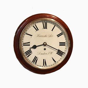 Antique Mahogany Dial Harrods Clock