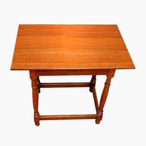 Antique Light Oak Side Table