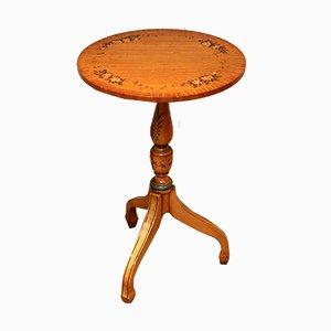 Small Circular Satinwood Table, 1960s