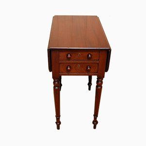 Antique Mahogany Drop-Leaf Side Table