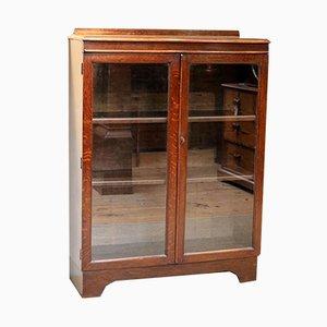 Oak Glazed Bookcase, 1920s