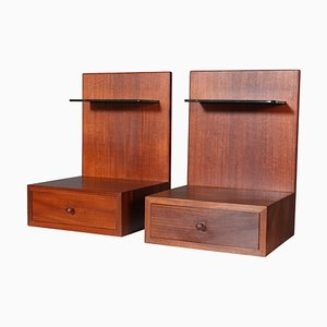 Teak Nightstands by Hans J. Wegner, 1960s, Set of 2