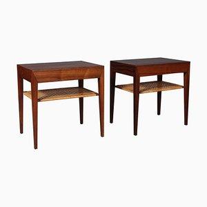 Danish Rosewood Bedside Tables by Severin Hansen for Haslev Møbelsnedkeri, 1960s, Set of 2