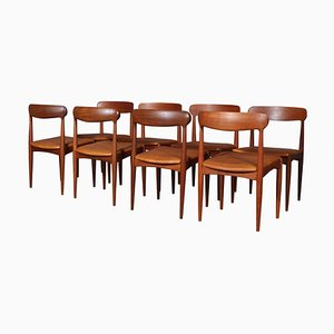 Mid-Century Dining Chairs by Johannes Andersen for Uldum Møbelfabrik, Set of 8