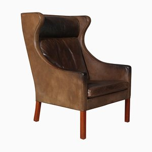 Mid-Century Wingback Lounge Chair by Børge Mogensen for Fredericia
