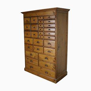 Vintage Dutch Pine Apothecary Cabinet