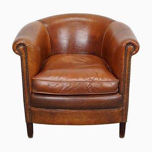 Vintage Dutch Cognac Leather Club Chair