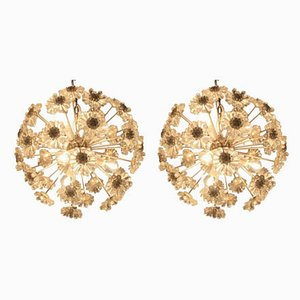 Sputnik Dandelion Chandeliers in the Style of Emil Stejnar, 1970s, Set of 2