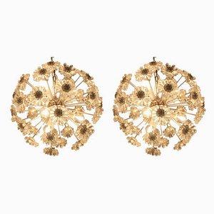 Sputnik Dandelion Chandeliers in the Style of Emil Stejnar, 1970s, Set of 2