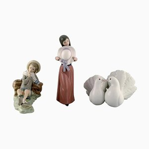 Porcelain Figurines from Lladro, Spain, 1970s, Set of 3